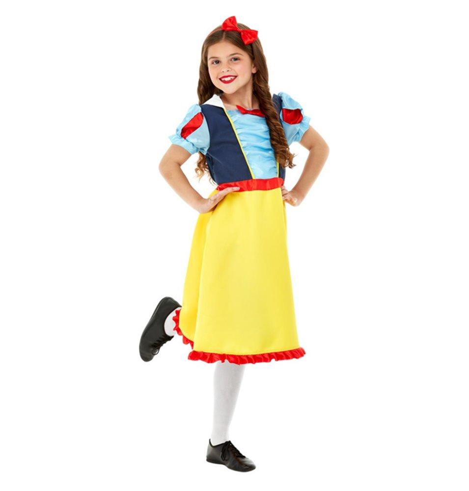 Deluxe Princess Snow Costume, Blue & Yellow
