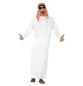 Fake Sheikh Costume, White