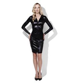 Fever Whiplash Pencil Dress, Black