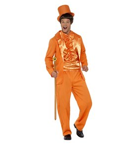 90s Stupid Tuxedo Costume, Orange