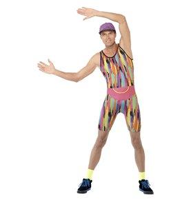 Aerobics Instructor Costume, Multi-Coloured