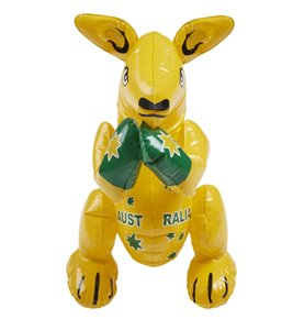 Inflatable Kangaroo, Yellow