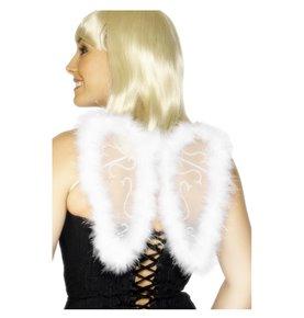 Mini Glitter Wings, White