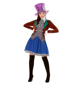 Miss Hatter Costume, Multi-Coloured