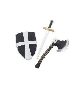 3 Piece Crusader Set, White