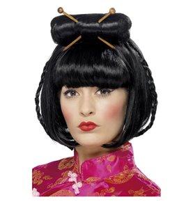 Oriental Lady Wig, Black