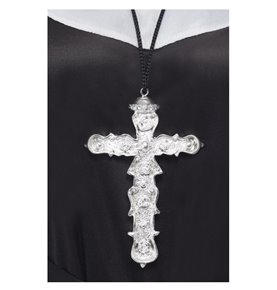 Ornate Cross Pendant, Silver