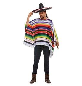 Poncho, Multi-Coloured