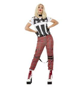 Punk Rocker Costume, Red