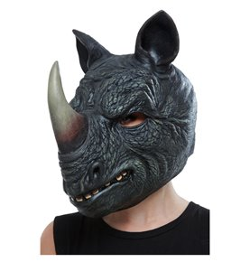 Rhino Latex Mask, Grey