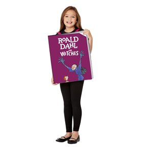 Roald Dahl The Witches Book Cover Costume, Purple