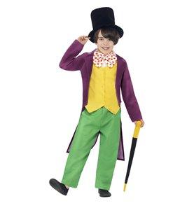 Roald Dahl Willy Wonka Costume, Green & Yellow
