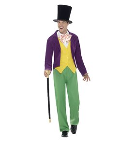 Roald Dahl Willy Wonka Costume, Multi-Coloured
