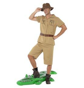 Safari Man Costume, Brown