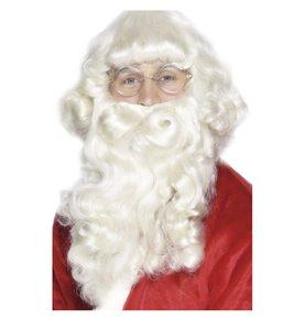Santa Wig and Beard Set, White