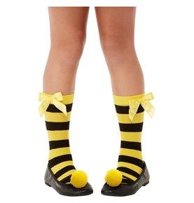 Santoro Bee-Loved Striped Socks, Yellow