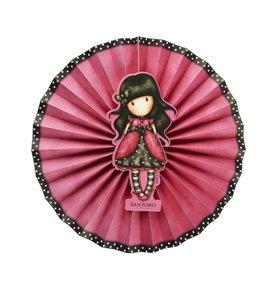 Santoro Gorjuss Ladybird Paper Fans, Pink