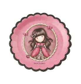 Santoro Gorjuss Ladybird Paper Plates, Pink