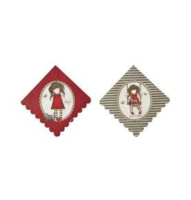 Santoro Gorjuss Ruby Napkins, Red