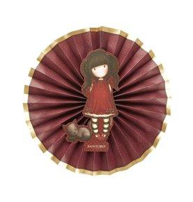 Santoro Gorjuss Ruby Paper Fans, Red