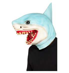 Shark Overhead Mask, Blue
