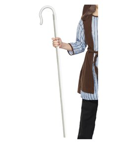Shepherds Extendable Staff, White