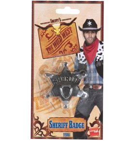 Sheriff Star Badge, Silver