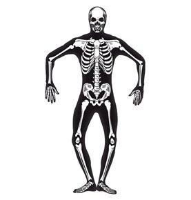 Skeleton Second Skin Costume, Black