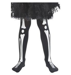 Skeleton Tights, Child, Black
