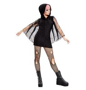 Spider Zip Up Jumper Dress, Black