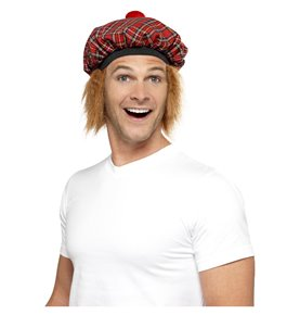 Tam-O-Shanter Tartan Hat, Red