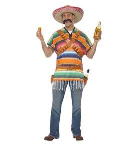 Tequila Shooter Guy Costume, Orange & Green