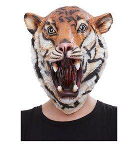 Tiger Latex Mask, Orange & Black