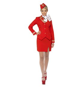 Trolley Dolly Costume, Red