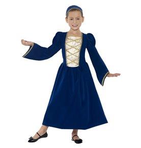 Tudor Princess Girl Costume, Royal Blue