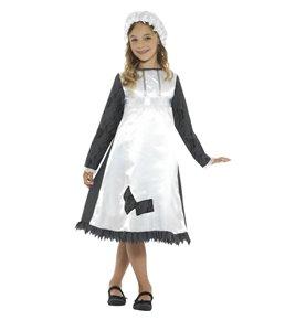 Victorian Maid Costume, Blue & White