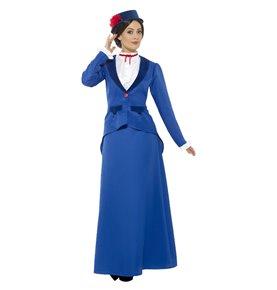 Victorian Nanny Costume, Blue2
