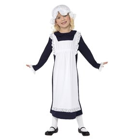 Victorian Poor Girl Costume, White