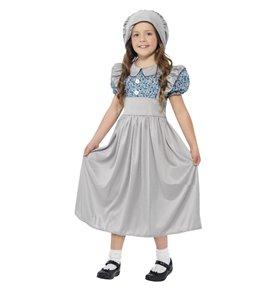 Victorian School Girl Costume, Grey