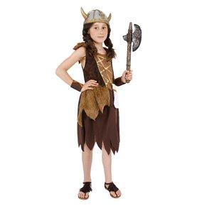Viking Girl Costume, Brown