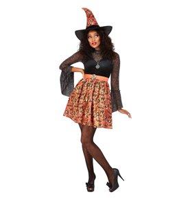 Vintage Witch Costume, Orange 2