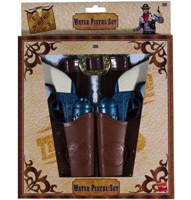 Western Water Pistol, Holsters & Belt, Blue