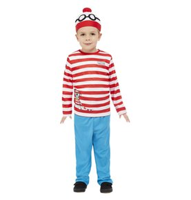 Where's Wally Costume, Red & White