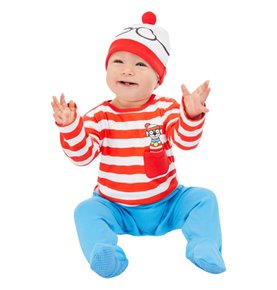Where's Wally? Baby Costume, Red & White