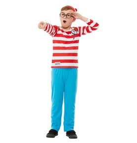 Where's Wally? Deluxe Costume, Red & White