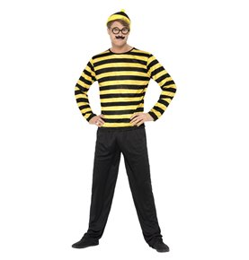 Where's Wally? Odlaw Costume, Black & Yellow