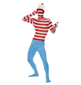 Where's Wally? Second Skin Costume, Red & White