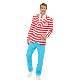 Where's Wally? Suit, Red & White