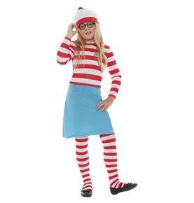 Where's Wally? Wenda Child Costume, Red & White
