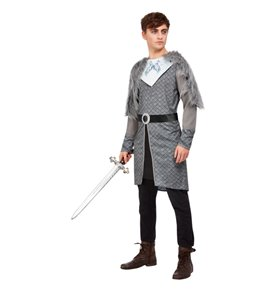 Winter Warrior King Costume, Grey